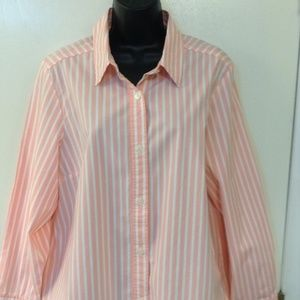 The Tog Shop size 18 pink/white stripped shirt